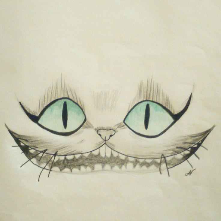 Alice in Wonderland inspired drawing  #cheshirecat #aliceinwonderland #drawing