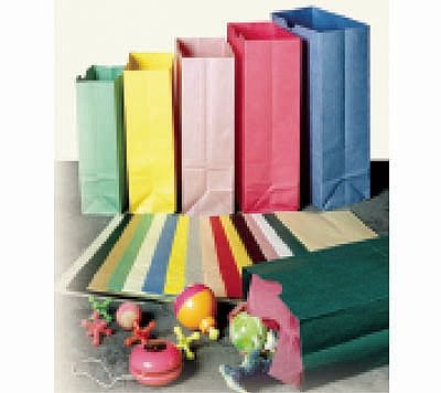 Merchandise bags are perfect for that simple touch to your products. Each bag has the side and bottom gusset and offers the choice of colours on the pinstripe natural paper.