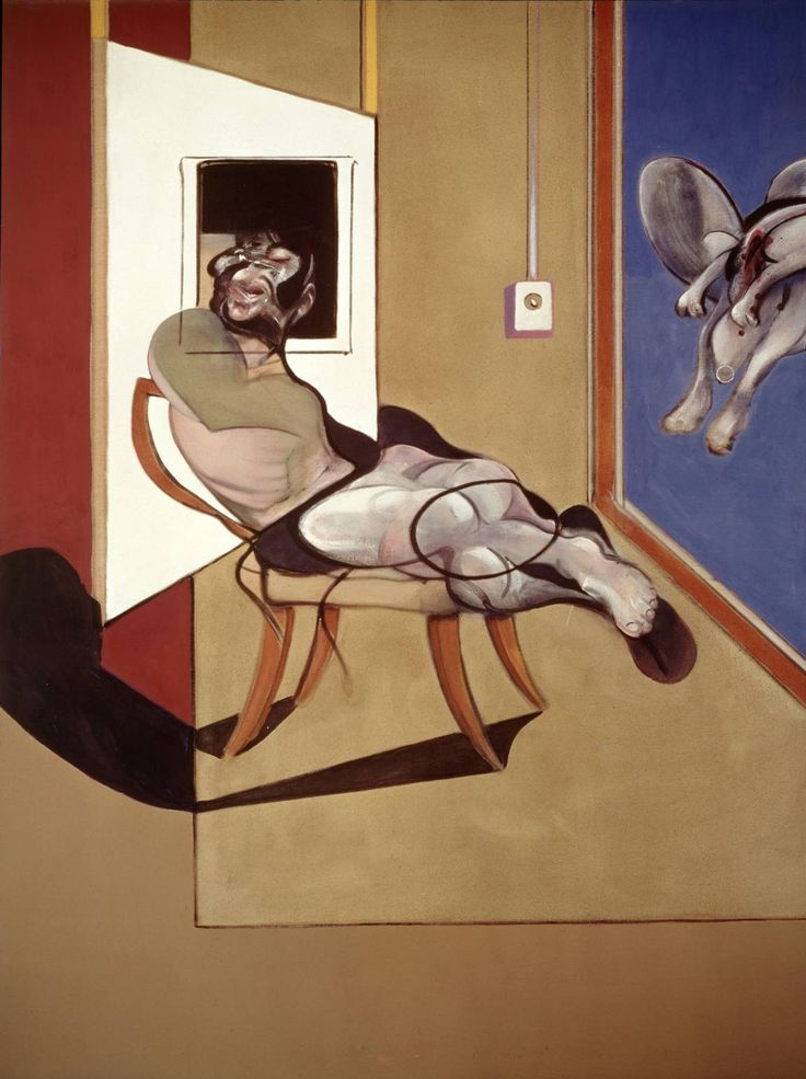 Seated Figure, 1974 Olio e pastello su tela / Oil and pastel on canvas