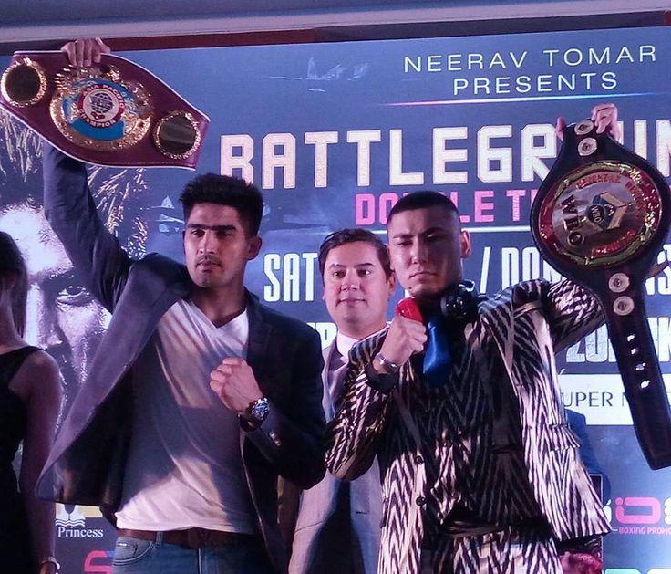 The WBO Asia Pacific Super Middleweight Champion, Vijender Singh, will take on the WBO Oriental Super Middleweight Champion, Zulpikar Maimaitiali, at the NSCI Stadium on August 5.  Photo: @iosboxing  #Boxing #Boxeo #RoundByRoundBoxing #RBRBoxing #BoxingNews #BattleGroundAsia #BoxingHype #BoxingGuru #BoxingFanatik #Boxen #WBO #SinghMaimaitiali #Asia #AsiaPacific