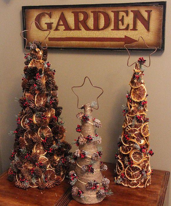 винтажный декор дома на рождество