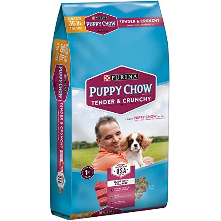 Purina Puppy Chow Tender and Crunchy Puppy Food (36 lb. Bag) -- You could find out more details at the link of the image. (This is an affiliate link and I receive a commission for the sales)