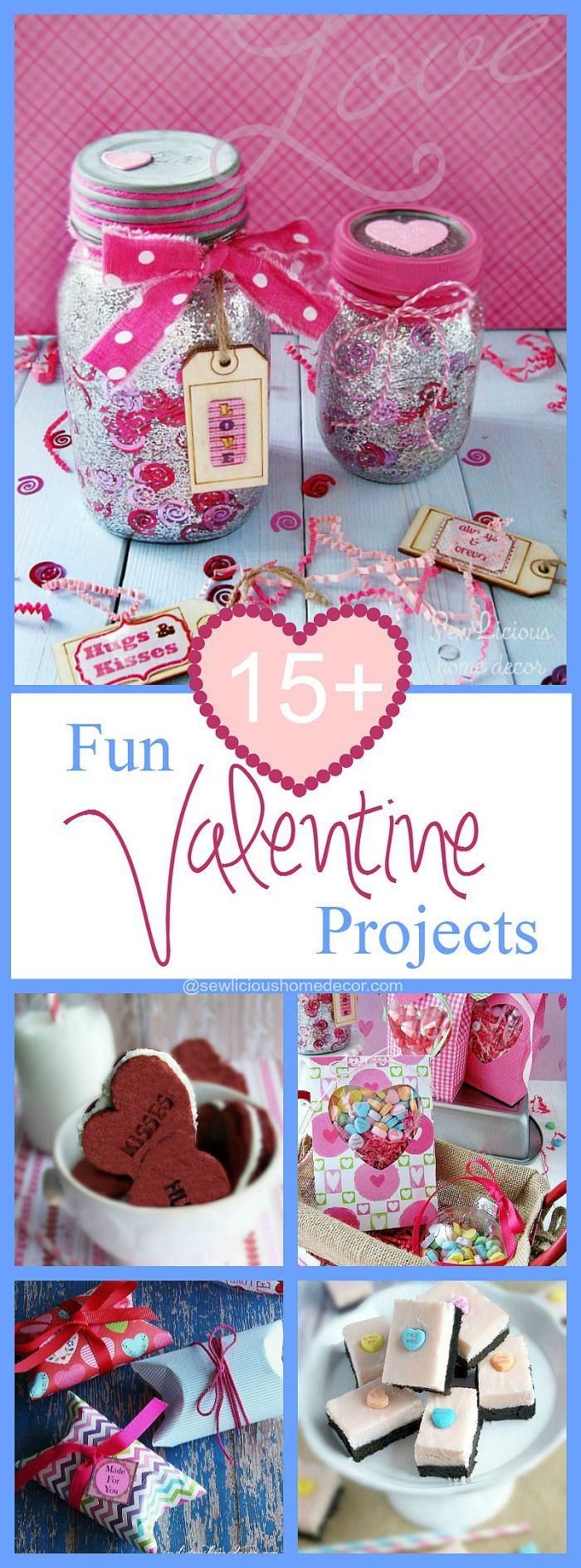 15 Fun Valentine Projects To Make at sewlicioushomedecor.com