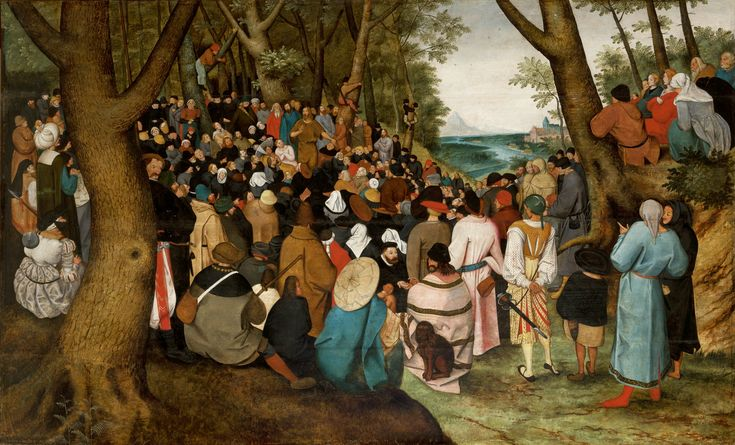 Copy by Pieter Breughel the Younger of his father's work The Preaching of St. John the Baptist (1601-1604), Europeum in Kraków