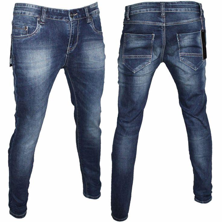 Jeans Uomo River Soul Cotone Denim Vita Bassa Slim Fit Bellois Fashion RS7282
