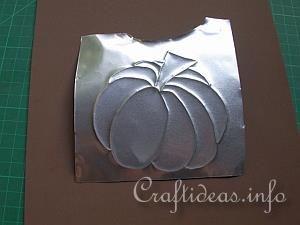 Embossed Metal Pumpkin Plant Poke 6