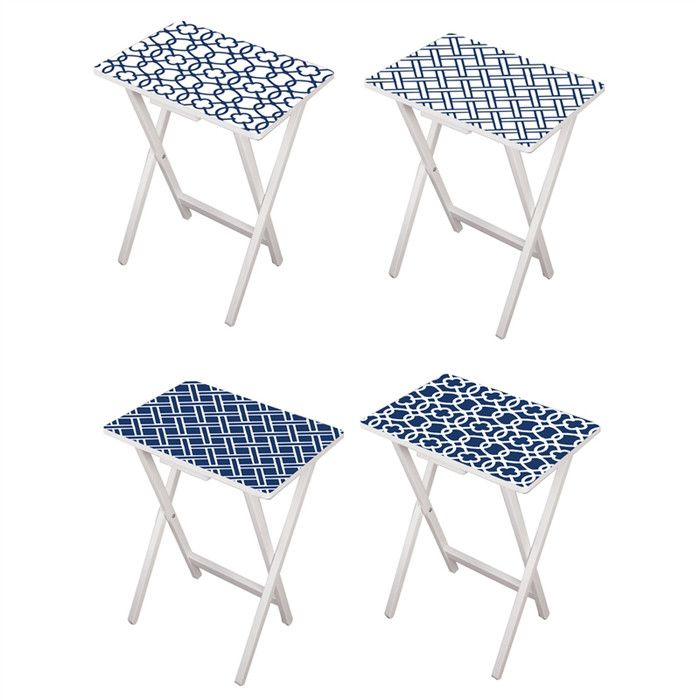 Youll Love The Elmore 4 Piece TV Tray Set At Wayfair