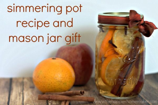 The Scent of Fall: Easy Simmering Pot Recipe and Mason Jar Gift