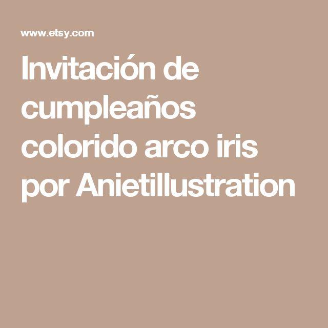 Invitación de cumpleaños colorido arco iris por Anietillustration