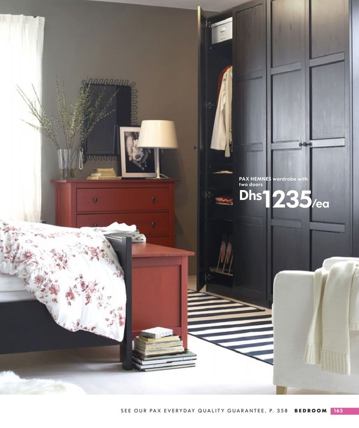 pax hemnes wardrobe with 2 doors pinteres. Black Bedroom Furniture Sets. Home Design Ideas