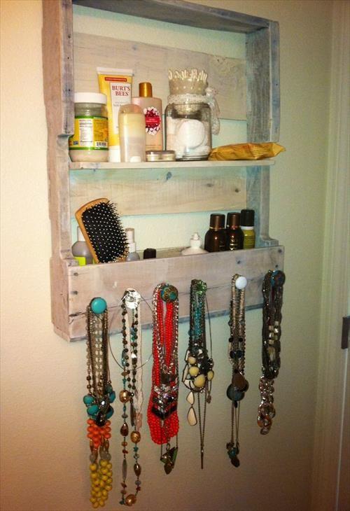 DIY Pallet Jewelry Holder Ideas DIY And Crafts Design