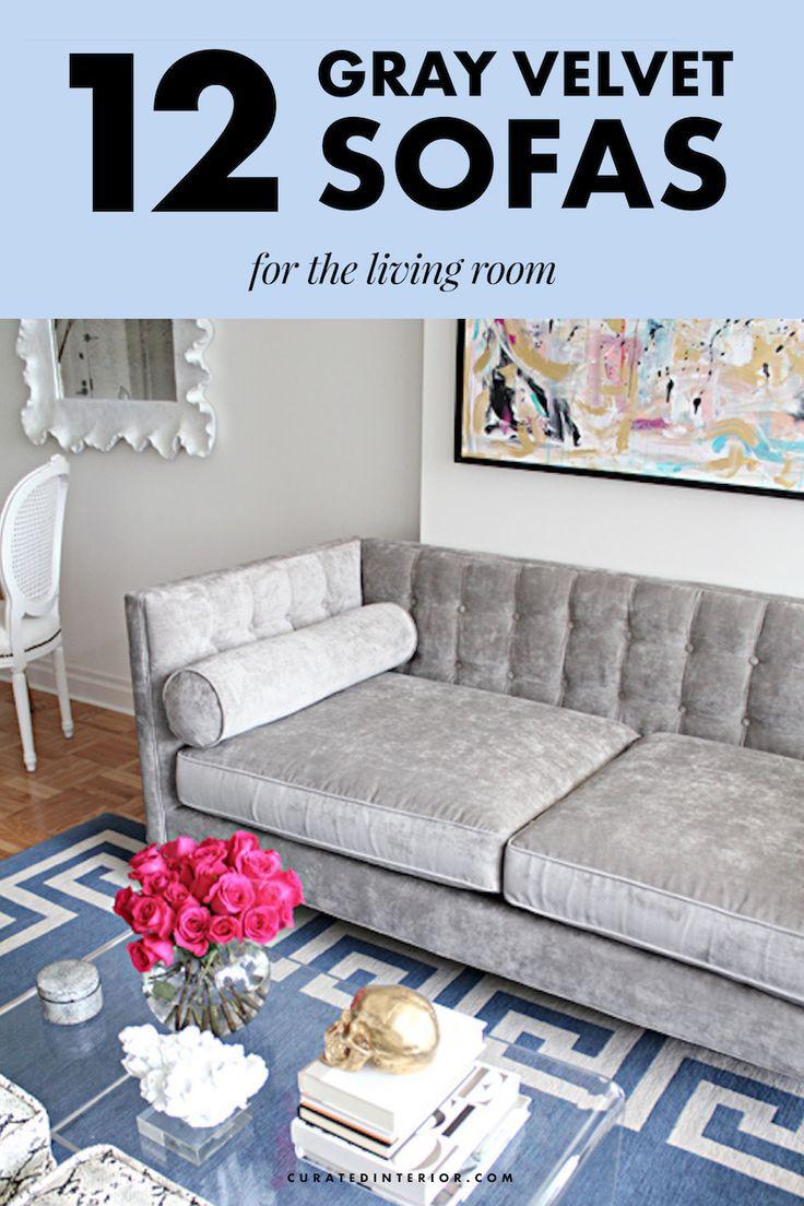 12 Gray Velvet Sofas For The Living Room You Ll Love Home