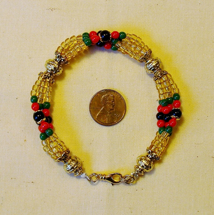 """""""Oshun Ibu Kole custom commission Ide"""" For more information, go to the following link: http://beadzonejewelry.com/"""