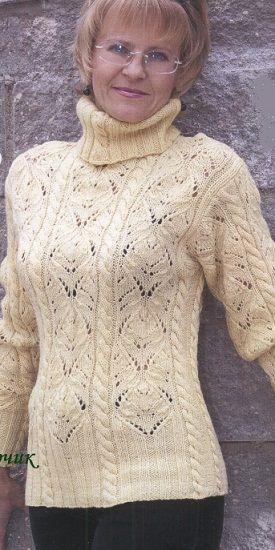 Вязание свитера большого размера