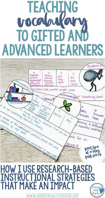 Teaching Vocabulary to Gifted and Advanced Learners–Instructional Strategies that Work