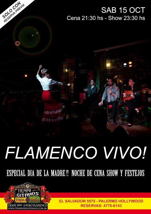 Regalá una noche soñada de Cena Show Flamenco!!  Reservas al 4776.6143