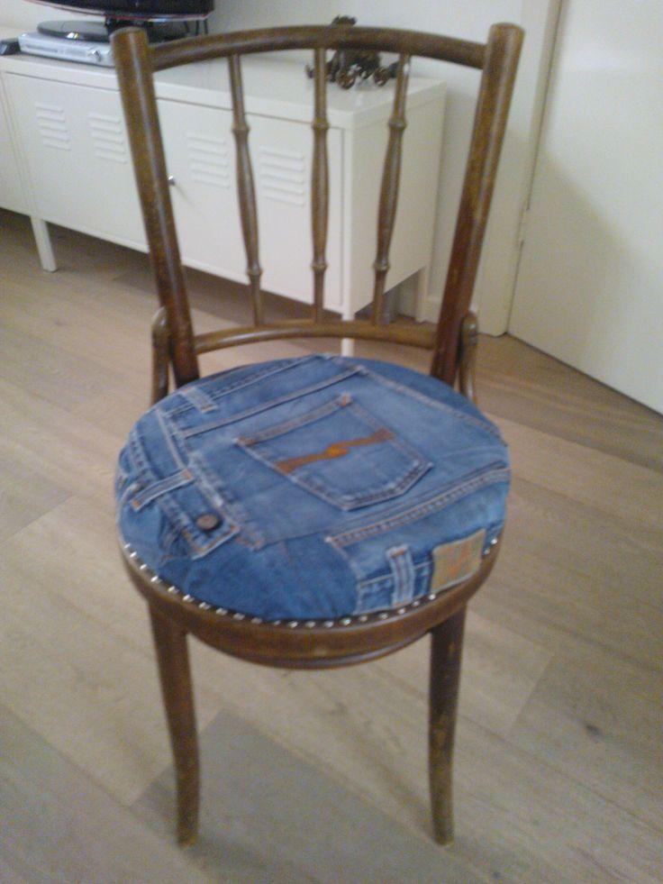 Nude jeans stoel