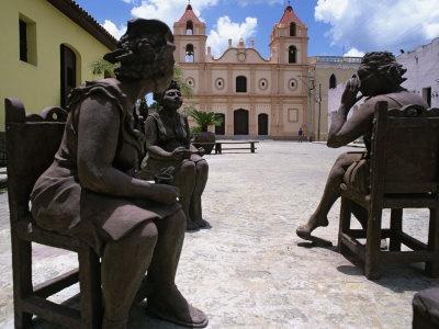 Clay Figures in Plaza Del Carmen, Camaguey, Cuba