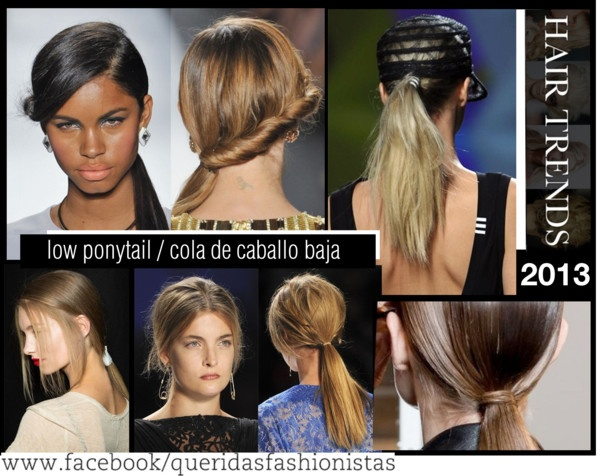 """""""Hairstyle Trend 2013: Low ponytail/cola de caballo baja"""" by hamaly ❤ liked on Polyvore"""