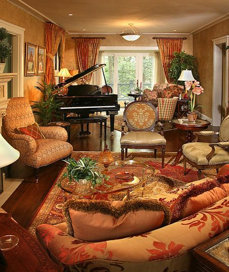 Living Room Gold And Red Hues Interiors Pinterest