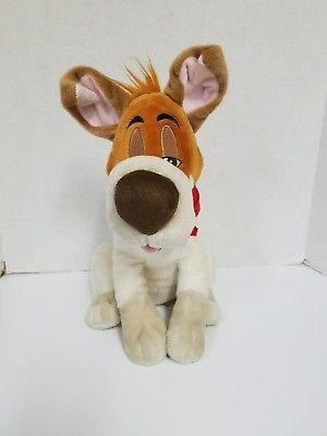 Disney Store Exclusive Oliver & Company Core Dodger Dog Stuffed Plush Animal Toy