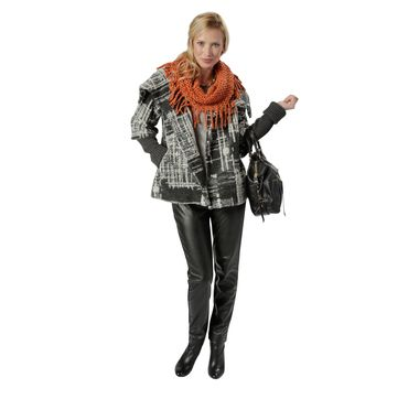 Spanner Tweed Swing Jacket with Knit Sleeves #SPANNER #InspiredStyle #Fall #Fall15 #Fashion #Style #Design #Canada #Shop #Online #Womens #Clothing #Inspire