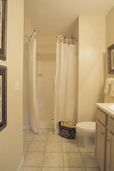 How to Make an L-Shaped Shower Curtain Rod | Curtain rods ...