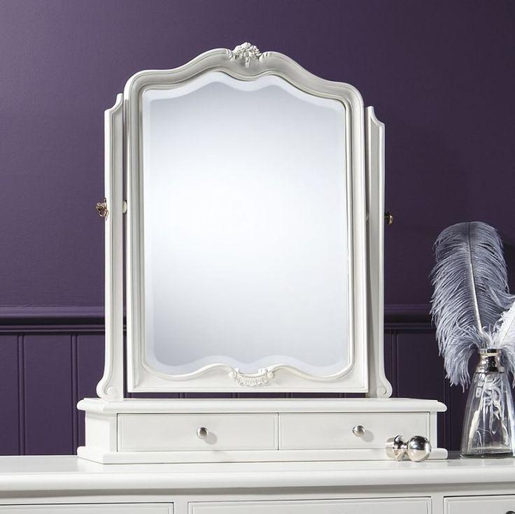 Gallery Direct Chic Chalk 2 Drawer Mirror