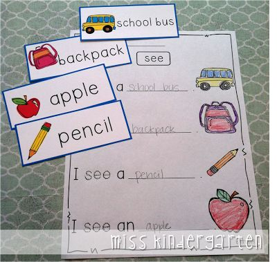 Miss Kindergarten: Writing in Kindergarten      This could be used with seasonal words