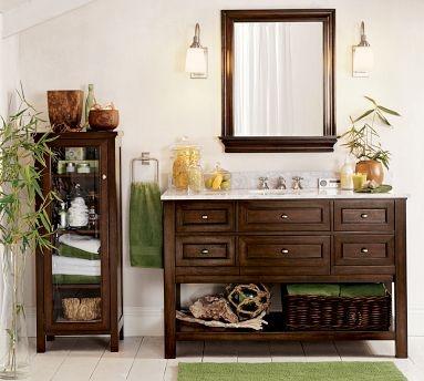 pottery barn vanity: Sinks Consoles, Bathroom Vanities, Bathroom Storage, Bathroom Idea, Classic Single, Bathroom Sinks, Master Bath, Pottery Barns, Single Wide