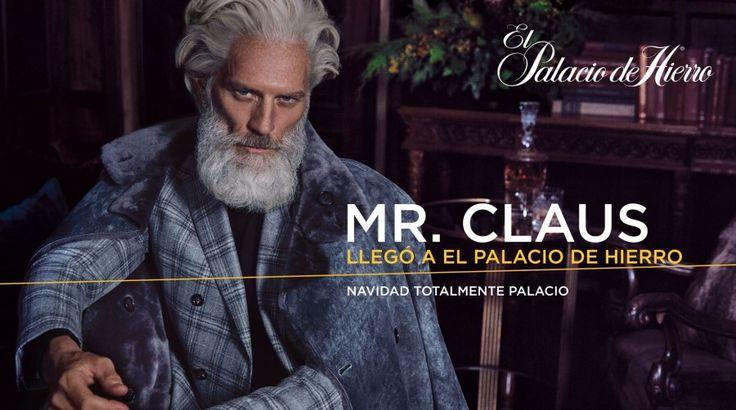 Paul Mason channels Santa Claus for El Palacio de Hierro.