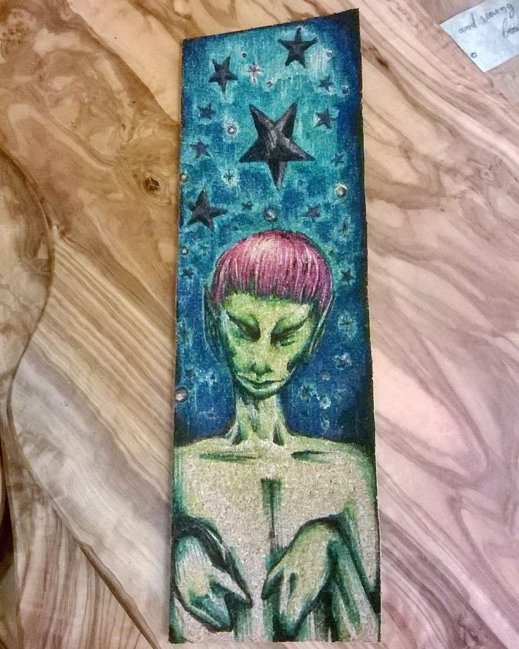 bookmark made by cork and handpainted
