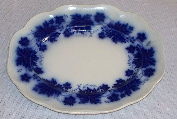 Hey, I found this really awesome Etsy listing at https://www.etsy.com/listing/208527382/antique-swedish-flow-blue-oval-serving