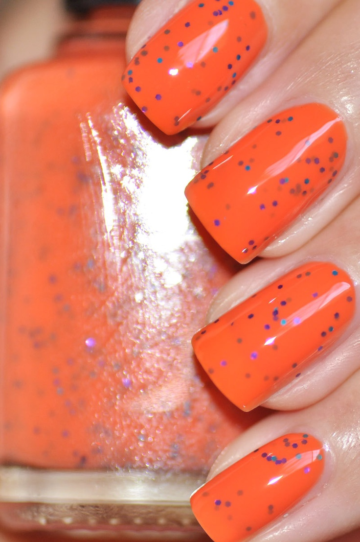 Orange Nails With Chevron And Glitter Nail: 17 Best Ideas About Orange Nail Polish On Pinterest