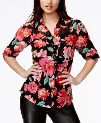GUESS Charlotte Floral-Print Shirt