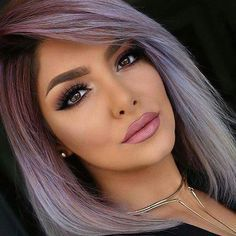 Silver purple hair - this is my next colour.                                                                                                                                                     More
