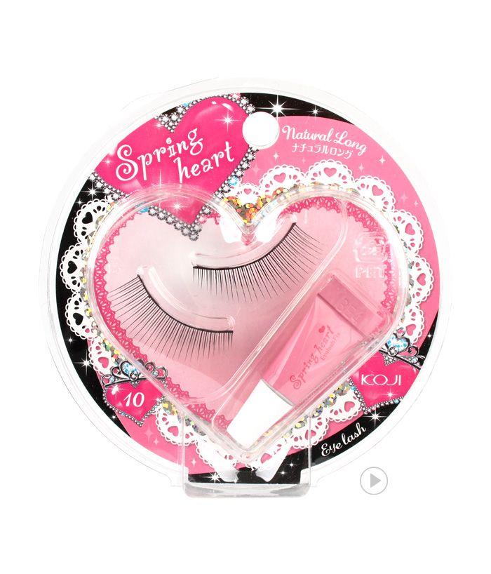 (spring heart eyelash natural long)spring heart eyelash  10 natural long