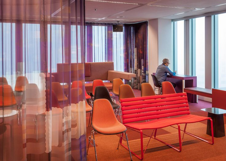 "Municipal government moves into OMA's De Rotterdam skyscraper - The metaphor is extended to areas with specific purposes – such as conference rooms, lounge areas, quiet zones and service facilities – which are designed as the ""city squares"" and ""parks""."