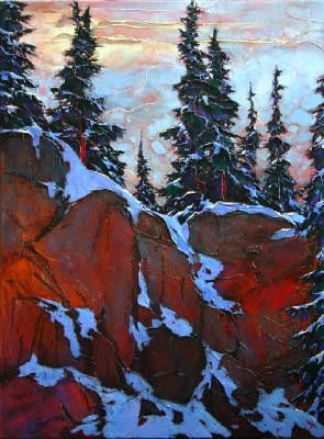 Artist: David Langevin, Title: Heavy Rocks - click on image to enlarge Fantastically both warm and cold