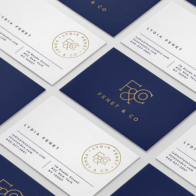 Fenet & Co business cards | vikkipacker.com