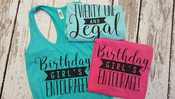 Birthday Party Tank top / 21st Birthday tank / by GandBamApparel