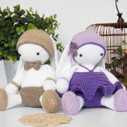 Белые кролики амигуруми: схема игрушки крючком | AmiguRoom