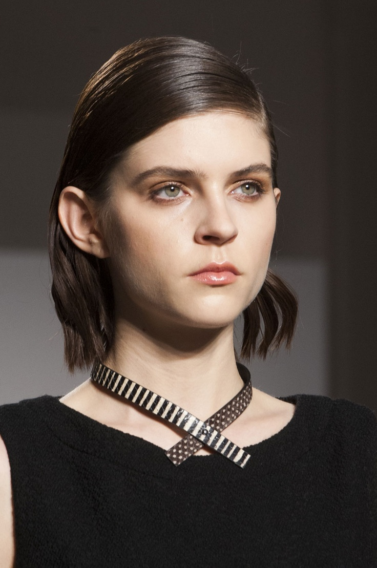 Kel Markey - Cividini. La coupe de cheveux tendance: le carré.    http://www.femina.ch/coiffure-carre    (CP: Imaxtree)