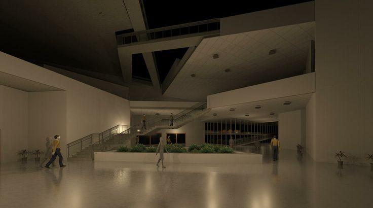 Revit work, fashion academy , entrance lobby
