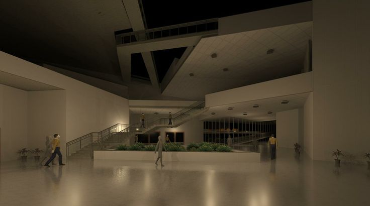 Revit work, fashion academy , entrance lobby
