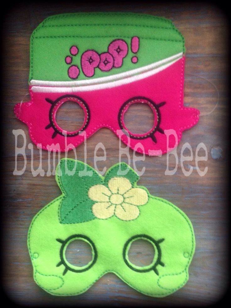 shopkins mask felt mask shopkins party favor apple blossom soda pop by BumbleBeBee on Etsy https://www.etsy.com/listing/237766755/shopkins-mask-felt-mask-shopkins-party