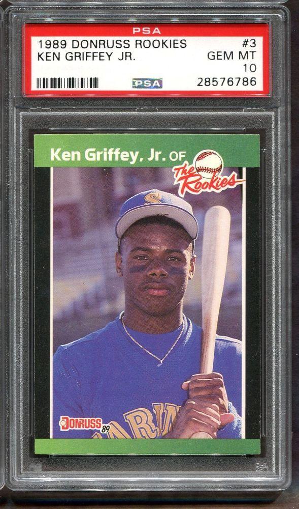1989 Donruss Rookies 3 Ken Griffey Jr Rookie Rc Psa 10 Hof