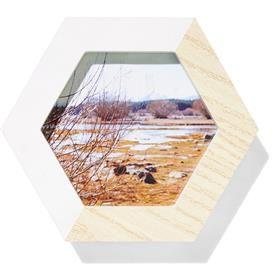 Hexagon Photo Frame - White