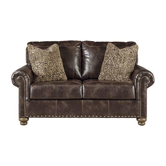 Super Signature Design By Ashley Nicorvo Roll Arm Loveseat Cjindustries Chair Design For Home Cjindustriesco