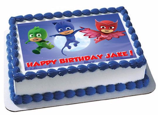 Pj Masks Edible Image Cake And Cupcake Toppers By